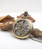 Wholesale Korean version of sweater chain necklace retro green bronze necklace pocket watch pocket watch large snowflakes