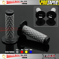 Wholesale BLACK GRAY Pro Taper Grips Dirt Bike Gel Handle Bar Motorcycle quot Motocross Hand Grips protaper MX Pillow Top order lt no tr