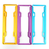 Wholesale The vehicle license plate frame box aluminum plate anti theft license plate frame new rules