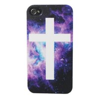 apple signs - Galaxy universe Bling Nice Night Sky Cross Sign Hard Plastic Mobile Protective Phone Case Cover For iPhone S S C