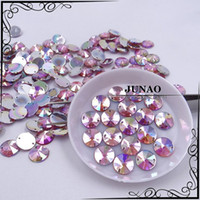 Wholesale 10mm Pink AB Color Rivoli Rhinestone Fancy Sew On Acrylic Strass Crystal Stones For Clothes Dress Craft Decorations pc