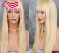 Cheap blonde silky straight lace wigs Best human hair wigs