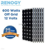 pv solar panel - 6pcs RENOGY Watt w Monocrystalline Photovoltaic PV Solar Panel Module V Battery Charging