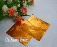 Wholesale 8 cm Orange Chocolate Aluminium Foil Wrapping Paper Chocolate Candy Tea Tin Foil Wrapper Paper