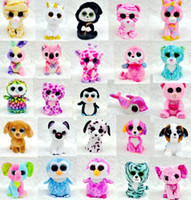 small stuffed animals - Ty Beanie Boos Plush Stuffed Toys Big Eye Animals Rabbit Penguin Soft Toys Colorful Children Small Animals Dolls Plush Gifts