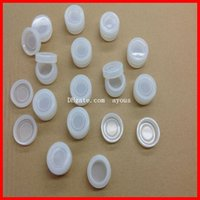 Wholesale 3ml clear canister nonstick silicone wax dipped to concentrate plastic oil bottles box