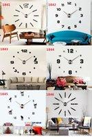 acrylic craft mirrors - DIY acrylic mirror wall clock daily personal individuation living room wall clocks craft clock