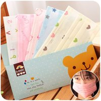 Wholesale Cute children disposable masks independent packaging female dust prevention and prevention of bacterial disease of