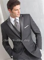 Wholesale Two buttons side seam for incision lapel the groom s best man suit wedding dress wedding suit jacket pants tie vest