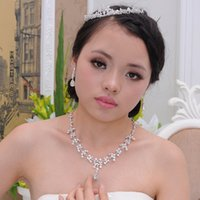 tiara and jewelry set - Shinny Bridal Jewelry Sets Bridal Earrings and Wedding Jewellery Bridal Tiara In Stock Cheap Wedding Accessories Jewelry Necklace Hot Sales