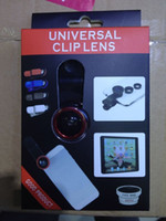 Wholesale Universal in1 Clip On Fish Eye Lens Wide Angle Macro Mobile Phone Lens For iPhone plus Samsung Galaxy s6 edge S4 S5 All Phones fisheye