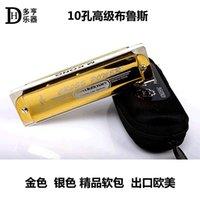 Wholesale The hole harmonica sound hole Bruce Gold Edition KS D nouveau riche gold silver