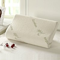 Wholesale Bamboo Pillow Cool Comfort Ultra Plush Bamboo Memory Foam Hotel Quality Pillow Stay Cool Bamboo Zipper Cover