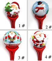 aluminium foil holder - Santa Claus Inflatable holder foil balloons Christmas gift Kids toys Party favors New Year celebration classic toys for children