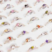 Wholesale Fashion New Ring Jewelry Ring Spread the Zircon Rings Boutiques exquisite CZ Alloy Ring