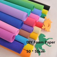 Wholesale EVA Foam Paper cm cm Sponge Foam Faper for Background Fold Scrapbook Craft Punch Stamping EVA Sponge Paper Foam Sheet Punch Foam