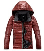 Wholesale Outdoor thermal brand new authentic cultivate one s morality men hooded zipper ultralight slim down jacket coat S xl