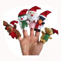 baby girl talking - Retail Christmas Santa Finger Puppets Set of piece Plush Toys Stuffed Doll For Kids Baby Puppets Storyteller Talking Props