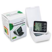 Wholesale Health Care Wrist Blood Pressure Digital LCD Screen Heart Beat Pulse Monitor Meter Cuff Blood Pressure Measure Sphygmomanometer T0013