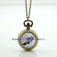 antique glass shoes - Track and Field Shoe Pocket Watch Glass Locket Necklace Vine Pocket Watch Necklace WT