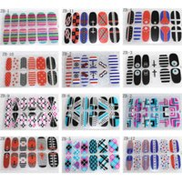Wholesale 12sheets Mixed NEW D Nail Art Sticker Decal Nail Stickers Nail Art DIY Decoration