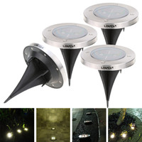 Wholesale LIXADA Solar Powered Warm White Garden Pathway Lawn lamp Spike Light Sense Landscape Decoration LED Lamp