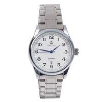 Wholesale ORKINA P0032 Stylish Men s Quartz Watch Arabic Numeral Scale Simple Calendar Silver White