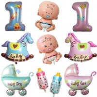 balloon animal car - MIX STYLE Angel Baby girl and baby car foot Promotion Bear Horse Toy For Wedding Birthday Party Inflatable Foil Balloons small size can mix
