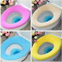 toilet seat - 2015 Cheap Toilet Seat Cover Candy Color O Style Wc Padded Toilet Seat Cover Toilets Universal Thickening Seat Cover