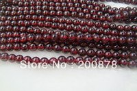 aquarius stone - TSB9995 Natural Stone round loose beads mm Wine Red Garnet beads strand January Birthstone Aquarius Lucky amulets