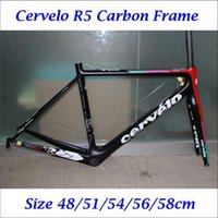 Wholesale 2016 Carbon Frame Road Bike Frameset Cervelo R5 Cycling Frames With Fork Seatpost Headset Clamp BBright