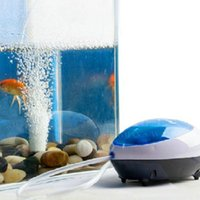 Wholesale New Silent High Out Energy Efficient Aquarium Air Pump Fish Tank Oxygen AirPump W W Optional