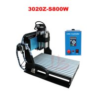 Wholesale CNC Z S800W Router Engraver Engraving Drilling and Milling Machine With SFU1605 ball screw With limit switch