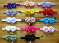 america photographs - Europe and America Hot Sale Baby Hair Accessories Chiffon Flower Pearl Toddler Girl Headband Infant Photograph Props Hairband WD354