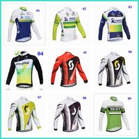 Wholesale Newest Orica greenedge scott cycling tops Jerseys winter thermal fleece cycling Kit duvel cycling jersey colors for choice long sleeves