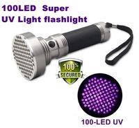 Cheap SKU703 AloneFire Super 100 LED UV Light 395-400nm LED UV Flashlight torch