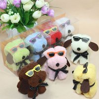 Wholesale 10pcs Hot sale glasses dog towel mini gift towel cake towel birthday gift Christmas gifts solid color