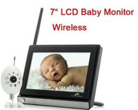 Wholesale 7 inch TFT LCD Widescreen wireless video baby monitor electronic babysitter nanny security digital camera with Night Vision Camera