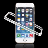apple bumper colors - Many Colors Metal Button TPU PC Transparent Frame Bumper Case for iPhone S Plus inch With Retail Package Free DHL