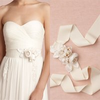 Wholesale New Arrival Rose Hand Made Fower Bridal Belts Cheap Elastic Stain Hand Made Accessories Sashes For Bridal Custom Made EN80415