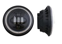 used boats - 7 inch W LED Headlight With Angel Eyes for Jeep Wrangler off road x4 use motorcycle off road truck SUV boat