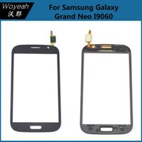 Wholesale Samsung Galaxy Grand Neo i9060 Touch Screen Digitizer Panel Replacement White And Black Mobile Phone Front Glass Lens Repair Parts