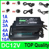 Wholesale Top quality DC V A A A A A Power Adapter Supply Charger Lighting Transformers with AU US EU UK plug