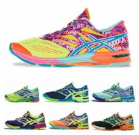 Wholesale 2015 Asics Running Shoes For Men Women Cheap Lightweight Racing Trainer Green Blue Sneakers Without Box Eur Size