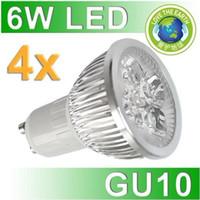 Wholesale 4x1W High Power Spot Light Epistar Chips GU10 E27 E14 MR16 DC12V AC110V V Die cast Aluminum Two Years Warranty CE ROHS