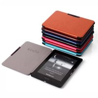 Wholesale Magnetic Buakle Case th Generation Crazy Horse PU Leather Cases For Amazon Kindle Voyage Ebook Reader