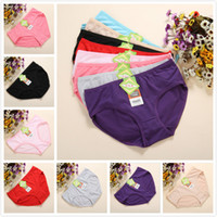 Wholesale 2015new woman underwear Solid waist female underwear lady underwear triangle cotton underwear for women breathable antibacterial woman Panty