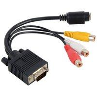 Vga qualité vidéo Avis-Nouveau PC de haute qualité VGA à S-Vidéo AV RCA TV Out Convertisseur Câble adaptateur F2899 W0.5 SUP5