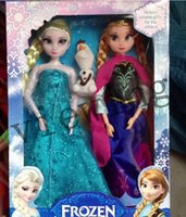 Wholesale Frozen Figure Play Princess Anna Elsa olaf Classic Toy Frozen Toys Dolls Set Christmas Gifts For Kids Girls With Retail Box Frozen
