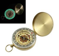 Wholesale 1 Hiking Camping Accessories Classic Brass Pocket Watch Style Camping Compass Hiking Mini Compass